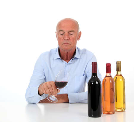 winemaker: Portrait of winemaker tasting wine