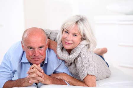 Portrait of happy senior couple photo