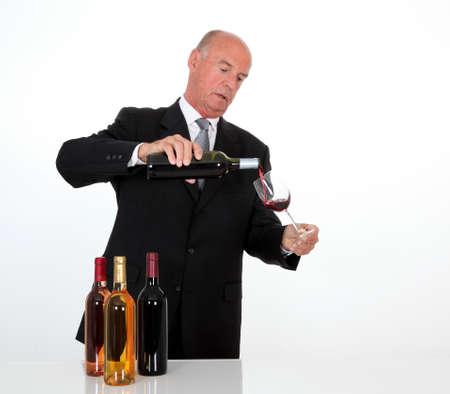 Senior man in wine business Stock Photo - 10012376