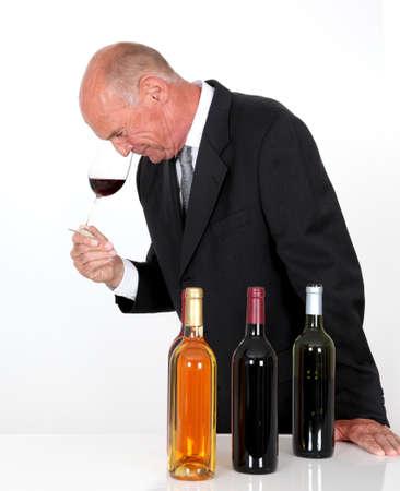 Senior man in wine business photo