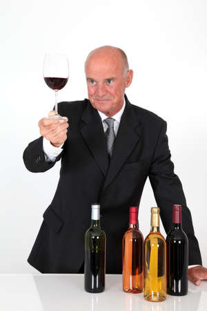 Senior man in wine business photo