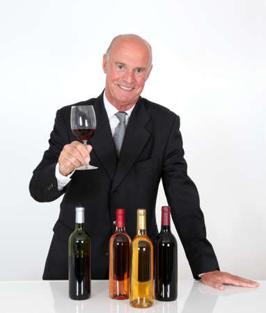 Senior man in wine business Stock Photo - 10012399