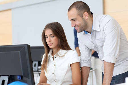 computer lab: Workgroup in training course