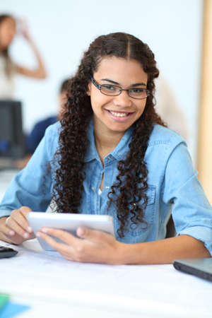 latina girl: Portrait of student in training course