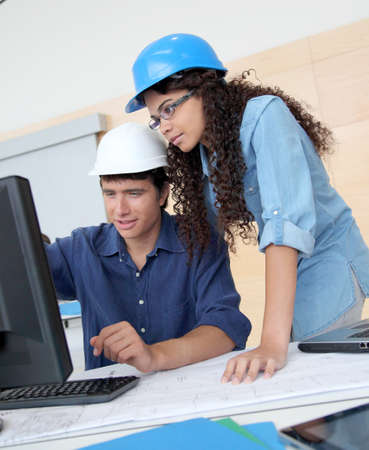 Students engineers working on project Stock Photo - 10012506