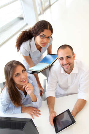 직업: 교육 과정에있는 젊은 사람들의 그룹