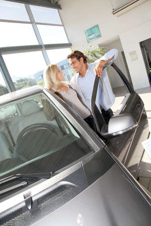 Couple looking to buy a new car Stock Photo - 10625765