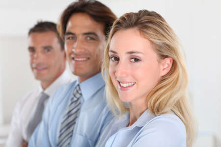 Portrait of smiling business team Stock Photo - 10624624