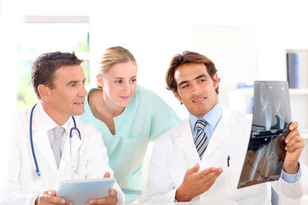 medicalcare: Medical people in work meeting Stock Photo