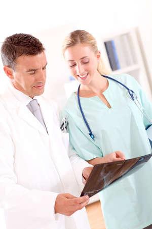 Medical people in work meeting photo