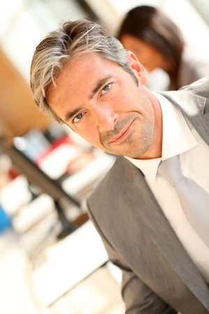 40 years old man: Portrait of businessman at work
