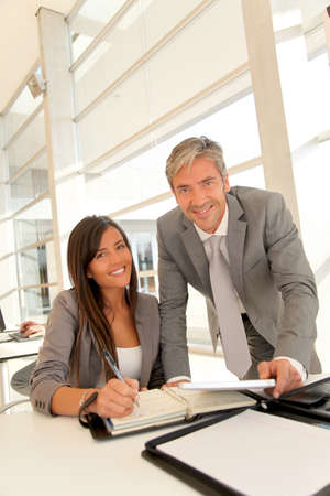 Manager and businesswoman meeting in office Stock Photo - 10978926