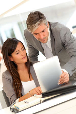 Business presentation on electronic tablet Stock Photo - 10978971