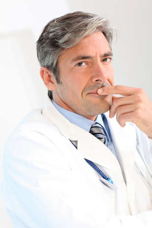40 years old man: Portrait of handsome doctor Stock Photo