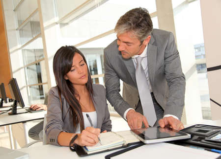 Manager and businesswoman meeting in office Stock Photo - 10979310