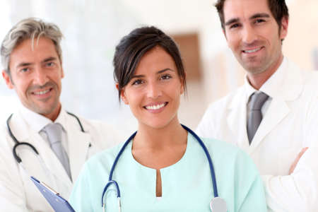 Portrait of smiling medical team Stock Photo - 10979210