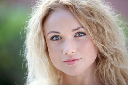 Portrait of beautiful blond smiling woman Stock Photo - 11283890