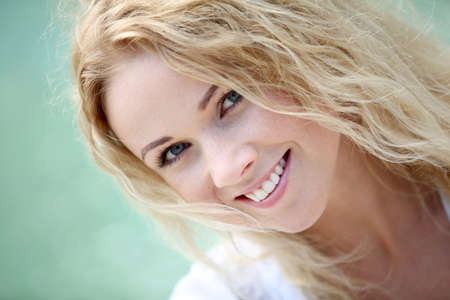 25 years old: Portrait of beautiful blond smiling woman