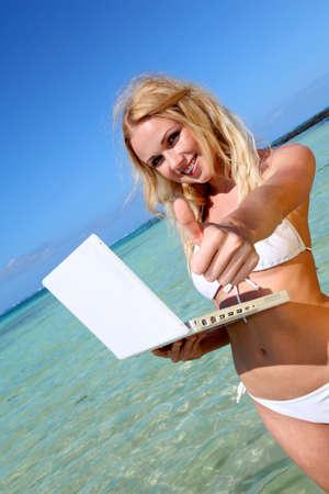 Promoting paradisiacal destination photo