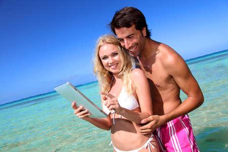 Promoting honeymoon travel destination photo