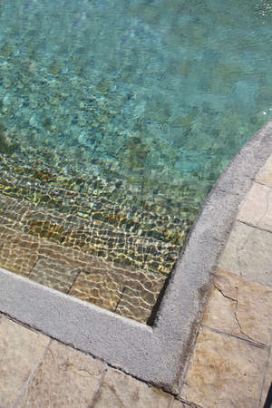 clearness: Closeup on pool water