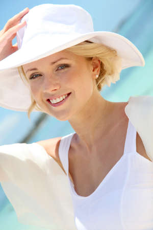 Portrait of beautiful bride on the beach Stock Photo - 11502925