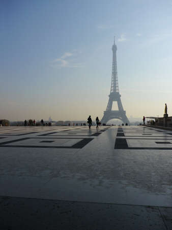 View of the Eiffel Tower from Trocadero photo