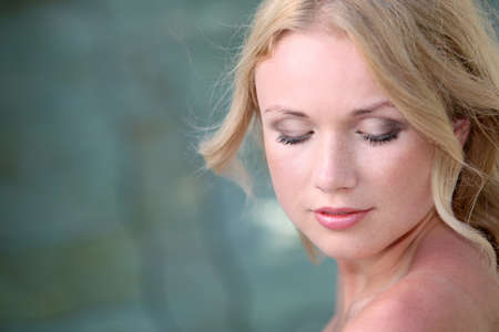 thalasso: Portrait of beautiful blond woman in spa