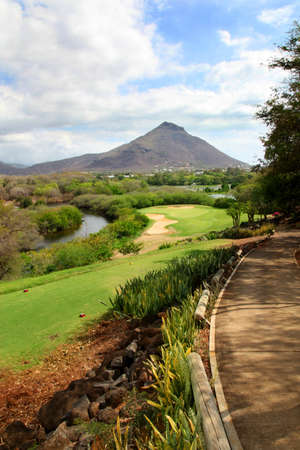 View of Mauritius golf course photo