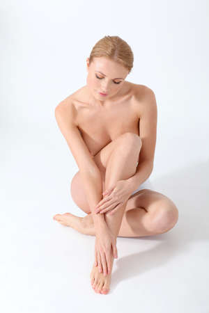 bare body women: Beautiful woman and bodycare Stock Photo