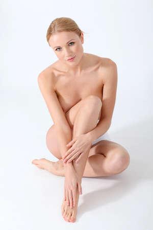 waxed legs: Bella donna e cura del corpo Archivio Fotografico