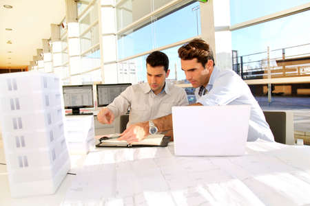 Young architects working on project Stock Photo - 11852482