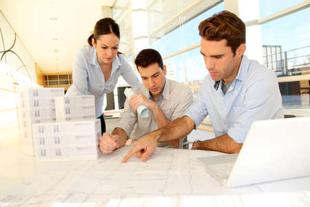 Team of architects working on project Stock Photo - 11852421