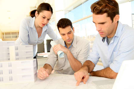 Team of architects working on project Stock Photo - 11853059