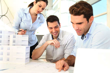 Team of architects working on project Stock Photo - 11852998