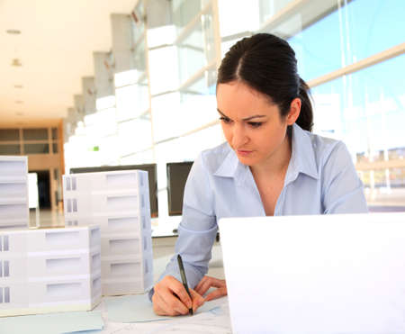 Woman architect in office Stock Photo - 11851929