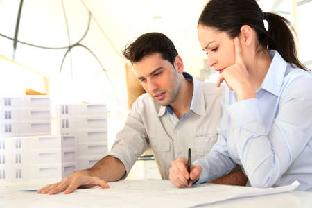 Young architects in business meeting Stock Photo - 11852420