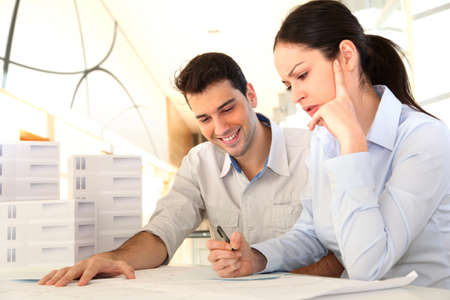 Young architects in business meeting Stock Photo - 11852739
