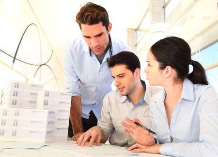 Young architects in business meeting Stock Photo - 11852717