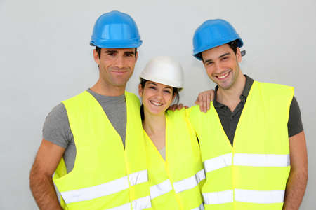 Portrait of cheerful construction team photo