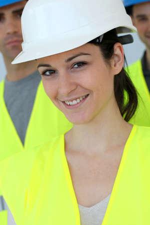 Portrait of woman construction apprentice  photo