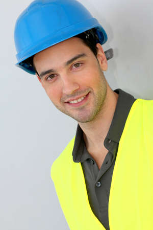 Construction trainee with security helmet Stock Photo - 11854017