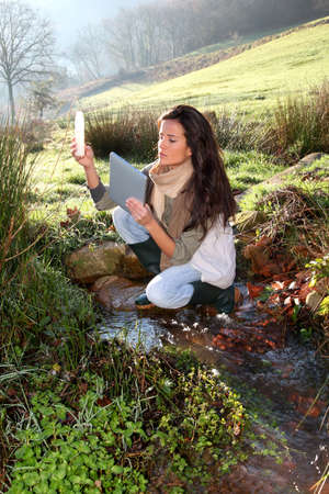 Woman scientist and environmental issues Stock Photo - 12122343