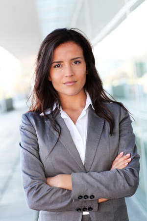 25 years old: Portrait of beautiful businesswoman standing outside