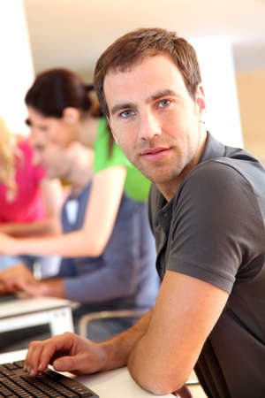 Portrait of young adult attending training class Stock Photo - 12557084