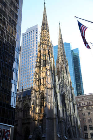 5th: Saint Patricks cathedral on the Fifth Avenue - New York City