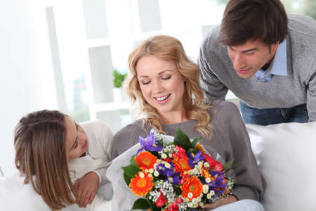 Mother's day celebration in family Stock Photo - 12557025