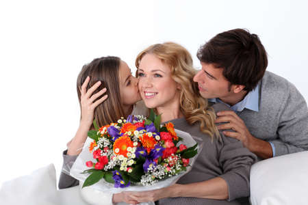 Mother's day celebration in family Stock Photo - 12557008