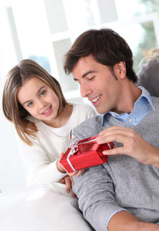 father's day: Fathers day celebration in family Stock Photo
