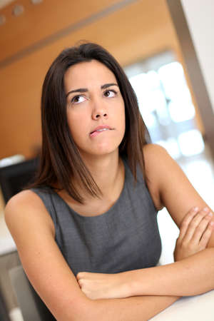 officeworker: Portrait of office-worker with puzzled look